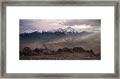 Lemhi Sunset Framed Print by Leland D Howard