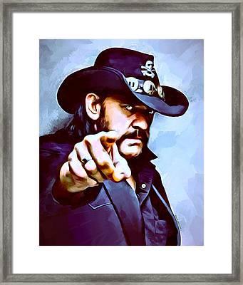 Lemmy Kilmister Painting Framed Print by Scott Wallace