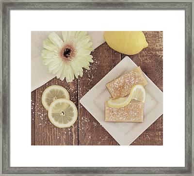 Lemon Delight Framed Print by Kim Hojnacki