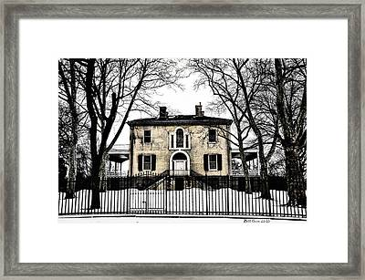 Lemon Hill Mansion - Philadelphia Framed Print by Bill Cannon