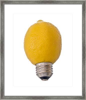 Lemon Light Framed Print by Jim DeLillo