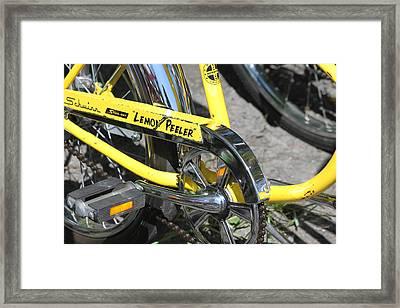 Lemon Peeler Framed Print by Lauri Novak