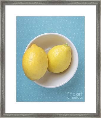 Lemon Pop Framed Print by Edward Fielding