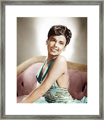 Lena Horne, Mgm Portrait, Ca. 1940s Framed Print by Everett