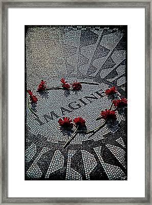 Lennon Memorial Framed Print by Chris Lord