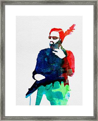 Lenny Watercolor Framed Print by Naxart Studio