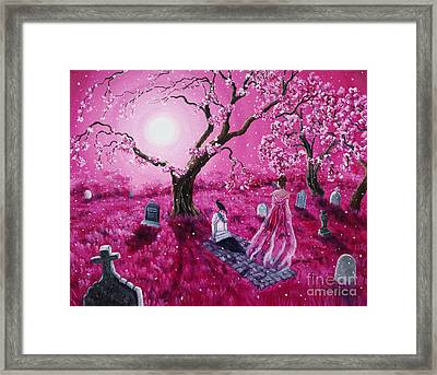 Lenore In The Breaking Dawn Framed Print by Laura Iverson