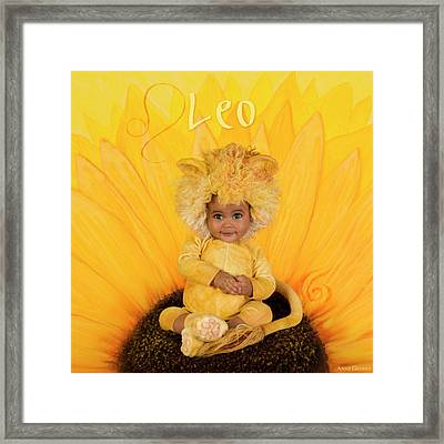 Leo Framed Print by Anne Geddes