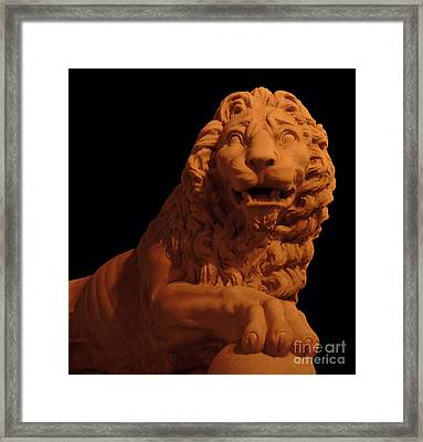 Leo Night Of Lights Framed Print by D Hackett