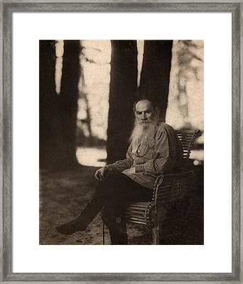 Leo Tolstoy 1828-1910 Russian Novelist Framed Print by Everett