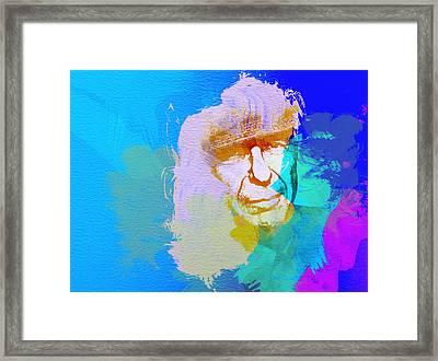 Leonard Cohen Framed Print by Naxart Studio