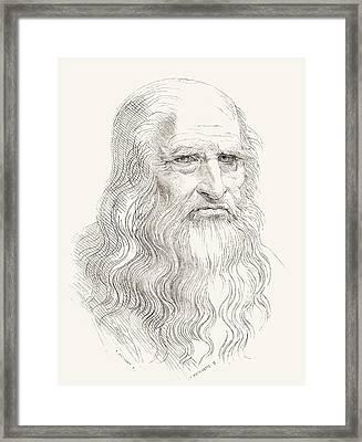 Leonardo Di Ser Piero Da Vinci, 1452 Framed Print by Vintage Design Pics