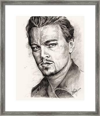 Leonardo Dicaprio Portrait Nr.2 Framed Print by Alban Dizdari