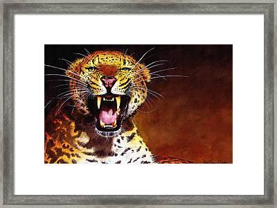 Leopard Framed Print by Paul Dene Marlor