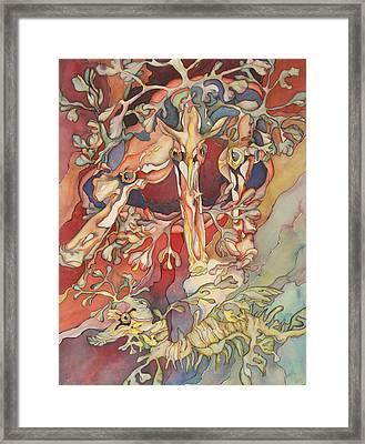 Les 4 Hippocampes Framed Print by Liduine Bekman
