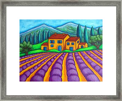 Les Couleurs De Provence Framed Print by Lisa  Lorenz