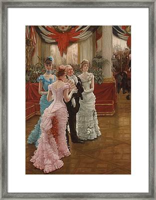 Les Demoiselles De Province Framed Print by James Jacques Joseph Tissot