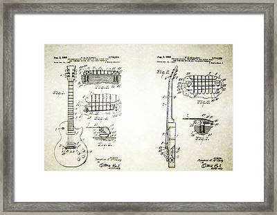 Les Paul Guitar Patent 1955 Framed Print by Bill Cannon