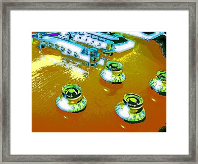 Les Paul Red Framed Print by Jerry Killian