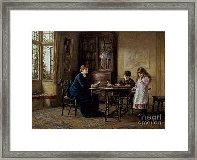 Lessons Framed Print by Helen Allingham