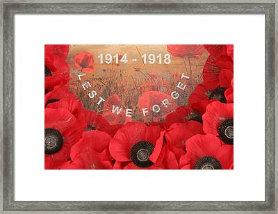 Framed Print featuring the photograph Lest We Forget - 1914-1918 by Travel Pics