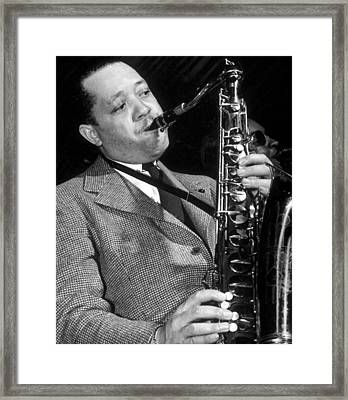Lester Young  Framed Print by American School
