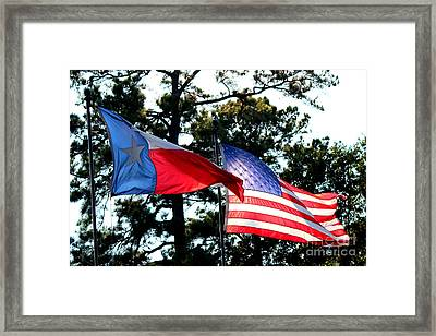 Let Freedom Ring Framed Print by Kathy  White