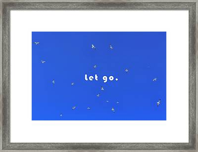 Let Go Framed Print by Joana Kruse