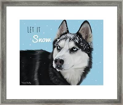 Let It Snow Framed Print by Autumn Bradley