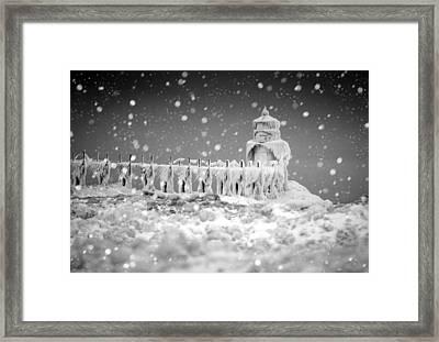 Let It Snow Framed Print by Jackie Novak