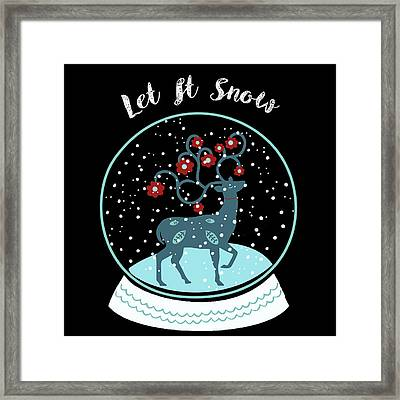 Let It Snow Framed Print by Marilu Windvand