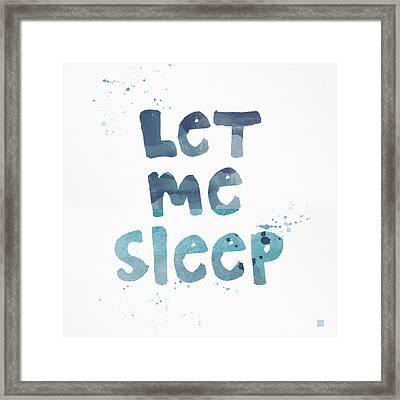 Let Me Sleep  Framed Print by Linda Woods