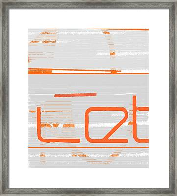 Let Framed Print by Naxart Studio