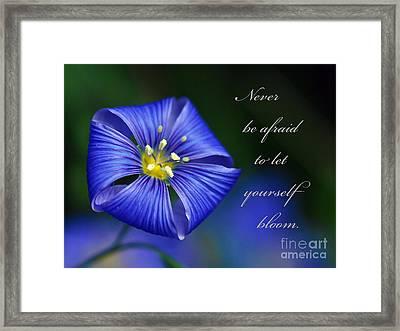 Let Yourself Bloom Framed Print by Kerri Farley