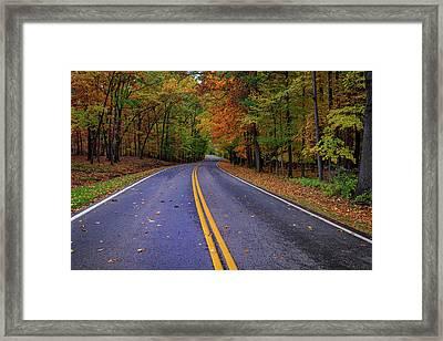 Letchworth Park Road Framed Print by Rick Berk