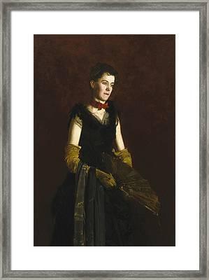 Letitia Wilson Jordan Framed Print by Thomas Eakins