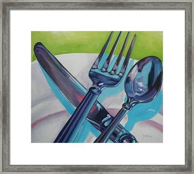 Let's Eat Framed Print by Donna Tuten