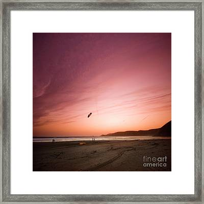 Lets Go Fly A Kite Framed Print by Angel  Tarantella
