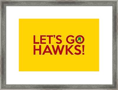 Let's Go Hawks Framed Print by Florian Rodarte