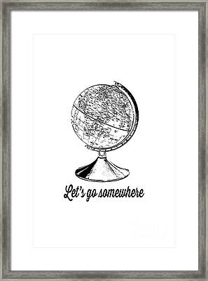 Let's Go Somewhere Tee Framed Print by Edward Fielding