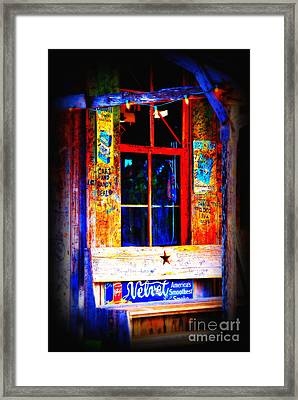 Let's Go To Luckenbach Texas Framed Print by Susanne Van Hulst