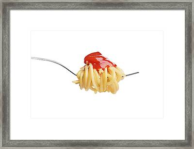 Let's Have A Pasta With Ketchup Framed Print by Vadim Goodwill