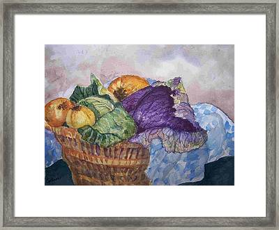 Let's Make Soup Framed Print by Sandy Collier