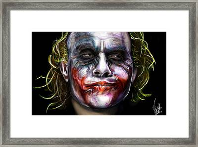 Let's Put A Smile On That Face Framed Print by Vinny John Usuriello