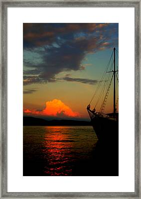 Let's Sail Away Framed Print by Jasna Buncic