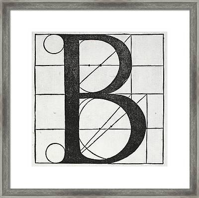 Letter B Framed Print by Leonardo Da Vinci
