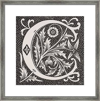 Letter C Framed Print by French School
