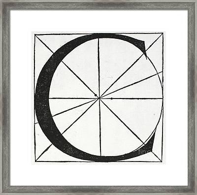 Letter C Framed Print by Leonardo Da Vinci