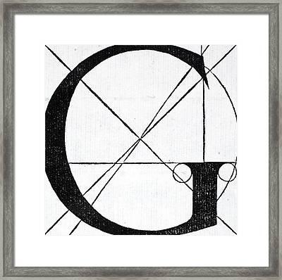 Letter G Framed Print by Leonardo Da Vinci
