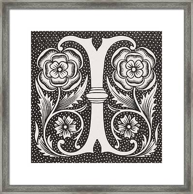 Letter I Framed Print by French School